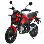 "MC-N020 125cc Vader Motorcycle with Manual Transmission, Electric Start! Big 12"" Wheels!"