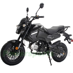"MC-N020 125cc Vader Motorcycle with Manual Transmission, Electric Start! Dual Headlights! Big 12"" Wheels!"