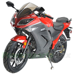 "MC-N022 125cc Ninja Motorcycle with Manual Transmission, Electric Start! 16"" Rims Wheels! Assembled In Crate!"