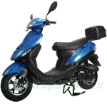 "X-PRO Maui 50cc Moped Scooter with 10"" Aluminum Wheels, Rear Trunk, Electric/Kick Start! Large Headlight! Fully Assembled In Crate!"