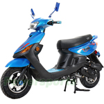 "X-PRO 50cc Moped Scooter with 10"" Aluminium Wheels, Electric/Kick start! With Aluminium Alloy Upgraded! Fully Assembled In Crate!"