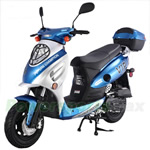 "MC-T02 50cc Sports Moped Scooter, 10"" Wheels, Electric / Kick Start! Rear Trunk!"