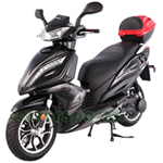 "MC-T13 150cc Moped Scooter with CVT Fully Automatic Transmission, Electric/Kick Start! 13"" Wheels and Rear Trunk!"