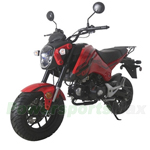 "MC-T28 125cc Street Motorcycle with 4-Speed Manual Transmission, Electric Start! 12"" Alloy Rim Wheels!"