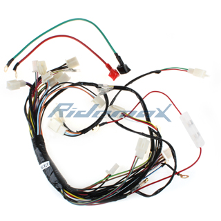 main wire harness for 110cc 125cc atvs chinese 250cc atv wiring diagram wiring harness loom solenoid coil