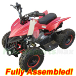 "ATV-F027-R873 60cc Kids ATV with Automatic Transmission, Electric Start! Disk Brakes! 6"" Tires! Refurbished, Fully Assembled!"