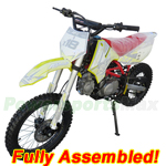 "DB-G009-R733 Apollo DB-X18 125cc Dirt Bike with 4-Speed Manual Transmission, Kick Start, Big 17""/14"" Tires! Refurbished, Fully Assembled!"