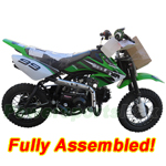 "DB-J007-R730 Coolster 110cc Dirt Bike with Fully Automatic Transmission, Electric Start! 10"" Wheels! Refurbished, Fully Assembled!"