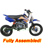 "DB-J012-R875 Coolster 125cc Pit Bike with Semi-Auto Transmission, 14""/12"" Wheels! Refurbished, Fully Assembled!"