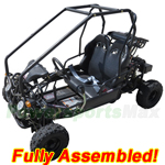 GK-F015-R871 110cc Kid Size Go Kart with Automatic Transmission w/Reverse and Remote Control! Refurbished, Fully Assembled!